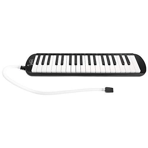 BILI-FOX B 37 Tasten Melodica, Mundharmonika Instrument Air Piano Keyboard mit Musikinstrument mit Tragetasche zum Unterrichten und Spielen für Kinder, schwarz