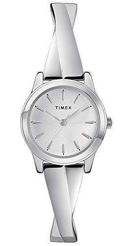 Timex Damen Analog Klassisch Quarz Uhr mit Edelstahl Armband TW2R98700