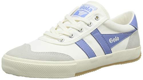Gola Damen Badminton Sneaker, Off White/Vista Blue, 39 EU