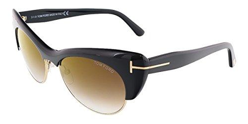 Tom Ford Lola Half-Rim 54MM Cat's-Eye Sunglasses 0387