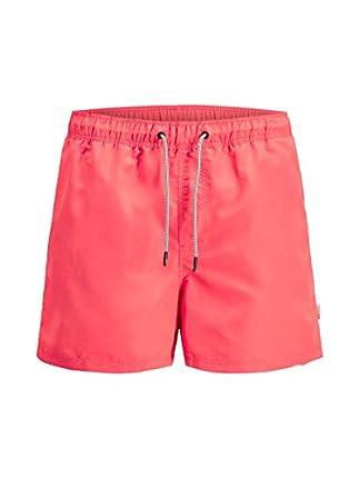 Jack & Jones JJIARUBA JJSWIM Shorts AKM STS Bañador, Naranja (Hot Coral), L para Hombre