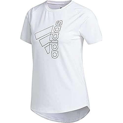 adidas Tech Bos tee Camiseta de Manga Corta, Mujer, White/Black, L