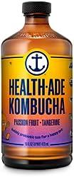 HEALTH ADE Organic Passion Tangerine Kombucha, 16 Fl Oz