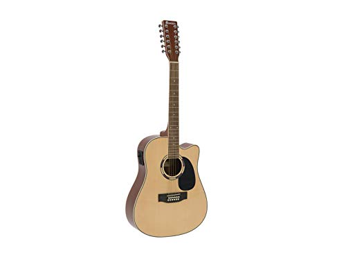 DIMAVERY DR-612 Occidental Gitarre 12 Saiten, Natur