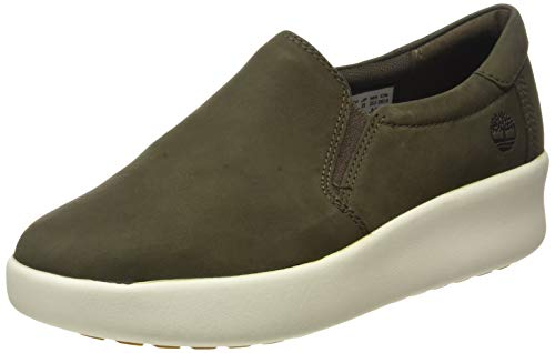 Timberland Berlin Park Slip-on, Sneakers Basse Donna, Verde Olive Nubuck, 38.5 EU