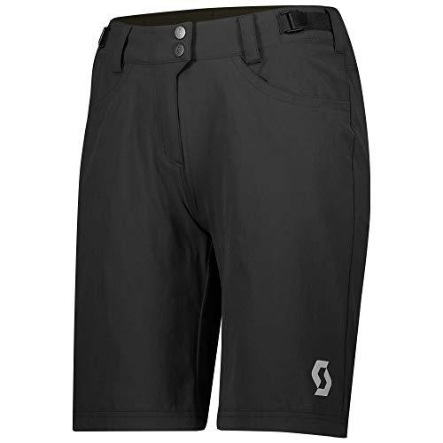 Scott Trail Flow - Pantaloncini corti da ciclismo da donna, con pantaloni interni, taglia XL (44/46), colore: Nero