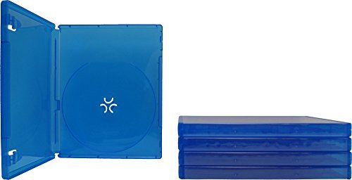 (5) Blue Game Cases - Compatible With Playstation 4 - 1 Disc Capacity - 14mm - #VGBR14PS4BL