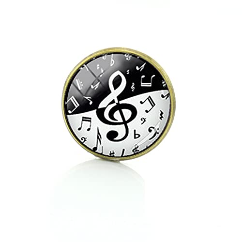 Stylish treble clef wave gifts brooches upscale yin yang music note pins steam punk formal wear badge for men women