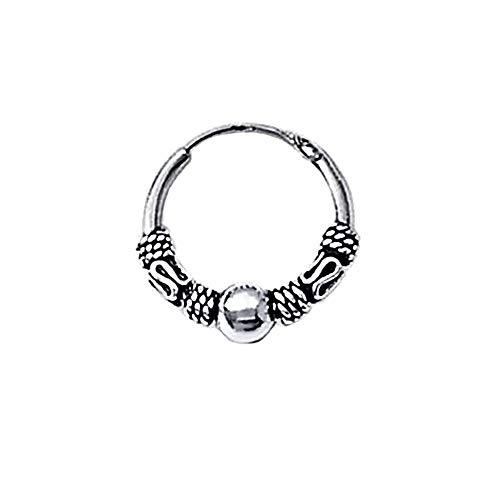 NKlaus 925 Silver Single Earring Celtic CREOLE Gothic Celtic Bali SINGLE 14mm 5039