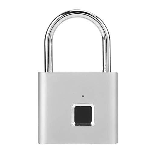 Cerradura de puerta con huella digital, luz indicadora LED de carga USB duradera, cerradura de puerta sin llave, para caja de armario de gimnasio