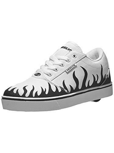 Heelys unisex child Wheeled Footwear Skate Shoe, White/Black, 3 Big Kid US