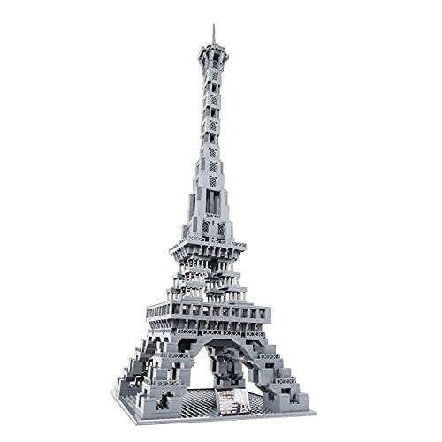icuanuty Architektur-Baukasten 1212pcs Eiffelturm in Paris Bausatz Weltberühmtes Wahrzeichen Modell Spielzeug Kompatibel mit Lego