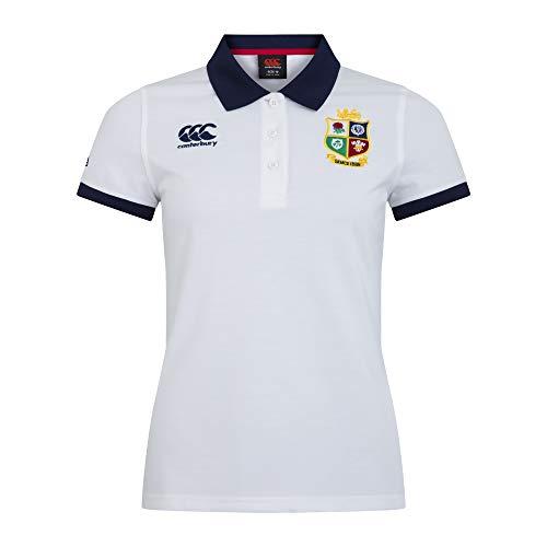 Canterbury of New Zealand Womens British and Irish Lions Home Nations Polo Shirt Bright White 14