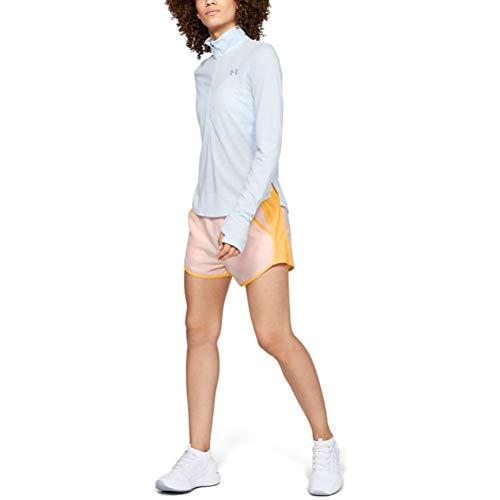 Under Armour Fly by Running Shorts für Damen, Damen, Shorts, Women's Fly-by Shorts, Mango Orange (805)/reflektierend, Medium