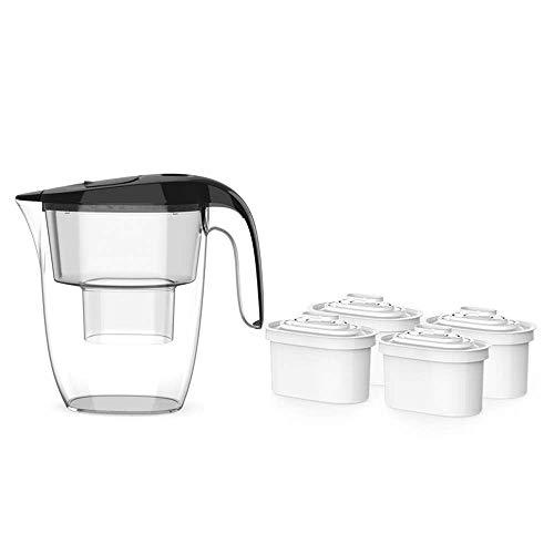WEHOLY Home Kitchen - Jarra con Filtro alcalino de Agua Premium, Filtro de Agua pequeño de 5 Tazas, dispensador de Agua con 4 filtros avanzados, sin BPA,...