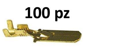 CAPOCORDA FASTON 6,3 MASCHIO con dentino 6,3 100 Pz
