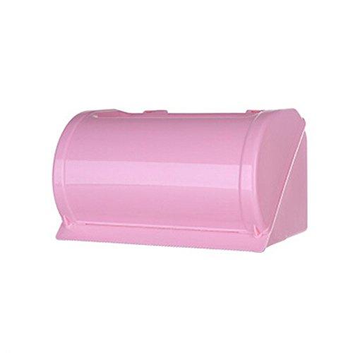 Ogquaton Portarrollos de papel higiénico para el hogar o el baño, de plástico, para teléfono o pared, color rosa, duradero y útil