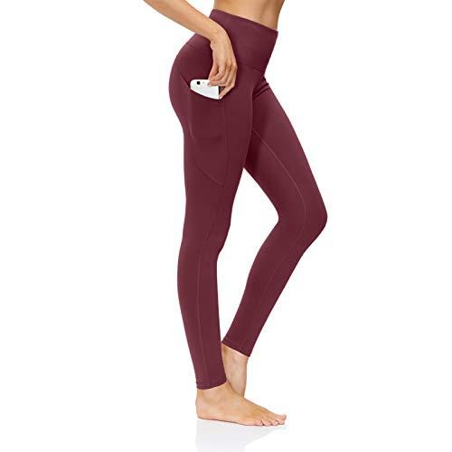 shine future Damen Sport Leggins Damen Sporthose High Waist Damen Sport Fitness Yogahose Lange mit Taschen Sporthose Yogahose