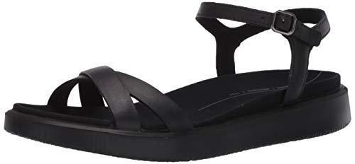 ECCO Damen Yuma Ankle Strap Sandale, schwarzes Nubukleder, 40/41 EU