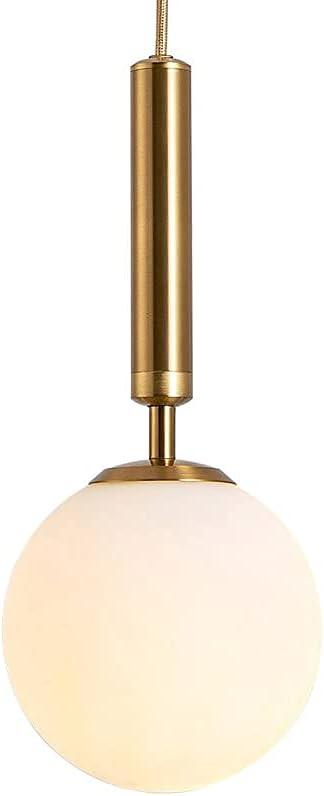 MQJ Lámpara de Cristal Colgante de Vidrio Lámpara de Cristal Blanca Mini E27 Lámpara de Araña, Accesorios de Iluminación Colgante Modernos para la Isla de la Cocina Dormitorio de la Cama de la Cama D