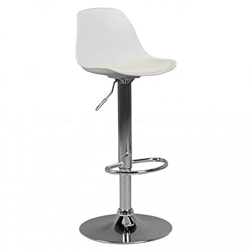 Corse | Cuir Artificiel Barstool Blanc | Tabouret Tabouret de Bar | Bar Design Tabouret de Bar Chaise Mobilier de Bar