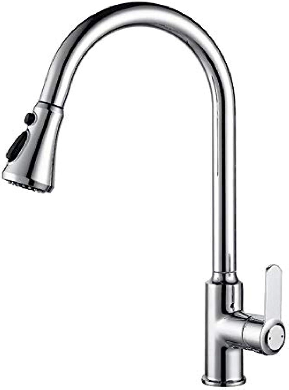 Kupfer Küchenarmatur Multifunktions-Wasser ziehen Wasserhahn Waschbecken heien und kalten Wassermischer