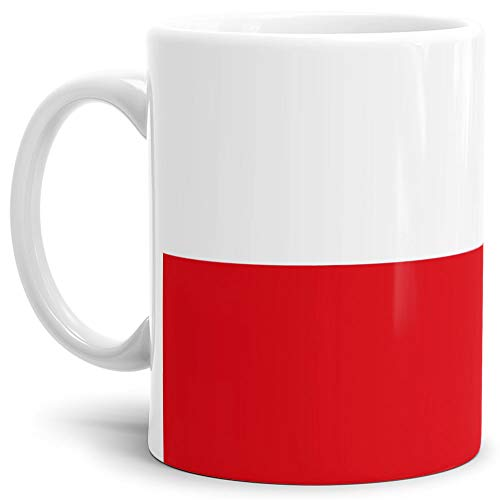 Tassendruck Flaggen-Tasse Polen - Kaffeetasse/Mug/Cup - Qualität Made in Germany