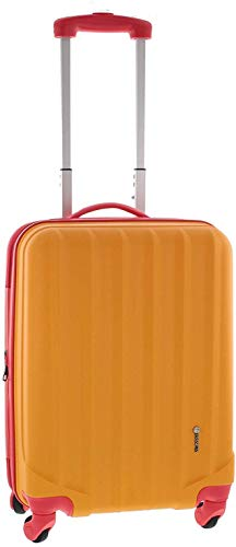 Pianeta Reisekoffer Koffer Set Ibiza (Gr. M/L/XL) – vielseitig einsetzbares Gepäckset, 4 Rollen Hartschalen Trolleys mit 360° Drehung, Zahlenschloss, orange