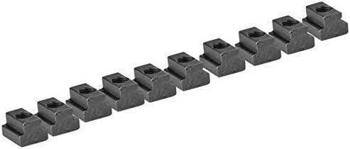 DUO ER 10pcs M8 M10 M12 Black Oxide Grade 8.8 Carbon Steel T-Slot Nut T-Nut Tapped Through Color : M8