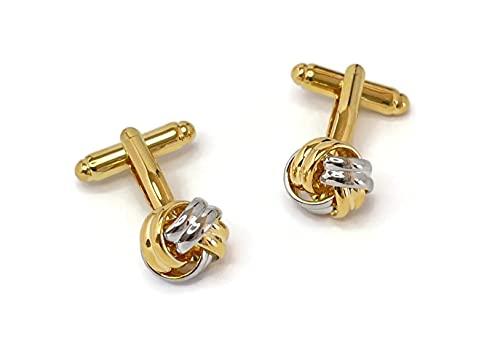 Cufflez Cufflinks – Manschettenknöpfe, das MUSS zu jedem Outfit – Knoten Gold & Silber