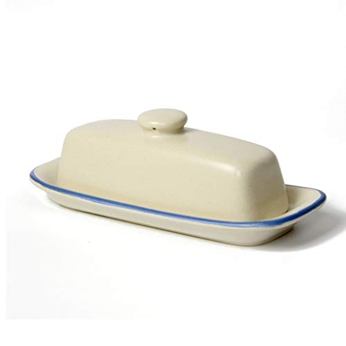 Butter Container/Butter Dish with Lid Household Butter Box with Lid, Multi Function Enamel Butter Boat, Traditional Butter Plate