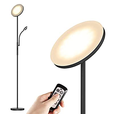 LED Floor Lamps - Standing Lamp with Flexible Gooseneck Reading Light, 2000 Lumens Full Range Dimmable with 3-Color Temperature for Living Room, Bedroom, Office