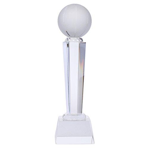 sharprepublic Taza De Trofeo De Cristal Personalizado Alentar Recuerdo Ganador Premio Premio Diamante - Forma Baloncesto (24cm de Alto)