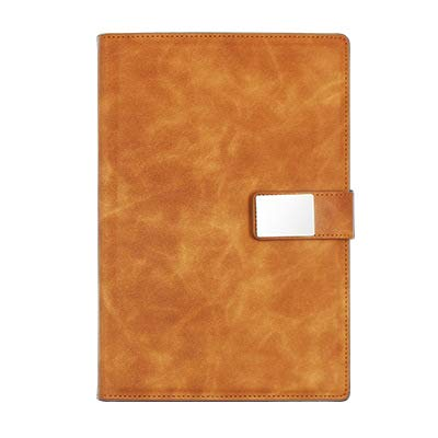 JPYH Cuaderno de Cuero A5 Libreta de Suministros de Oficina Cuaderno de Negocios con Hebilla magnética Cuaderno de Estudiante para Oficina de Negocios de Cuello Blanco (Amarillo)