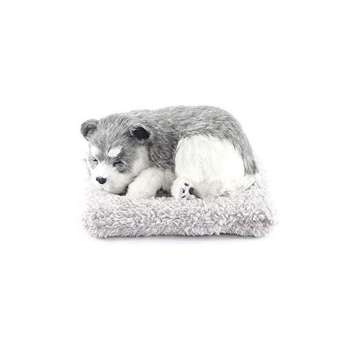 Ablily - Adornos de perro de simulación de carbón activo montado sobre el vehículo, coche, figura de forma de perro dulce que mueve la cabeza agitada y decorada para interior de regalo