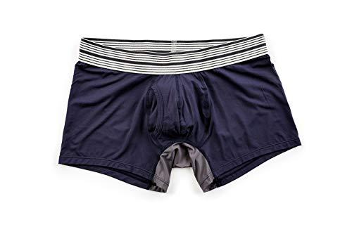 Mr. Davis Men s Bamboo Viscose Trunk Cut Boxer Brief Underwear Navy Size XX-Large