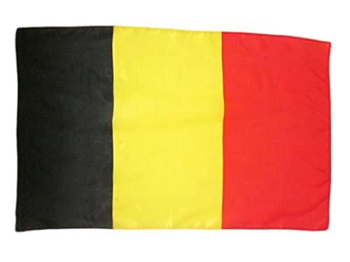 AZ FLAG Drapeau Belgique 90x60cm - Drapeau Belge 60 x 90 cm Fourreau pour hampe
