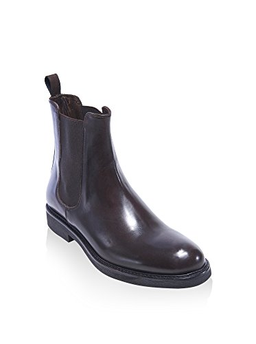 British Passport Plain Chelsea Boot Dark Brown Marrone