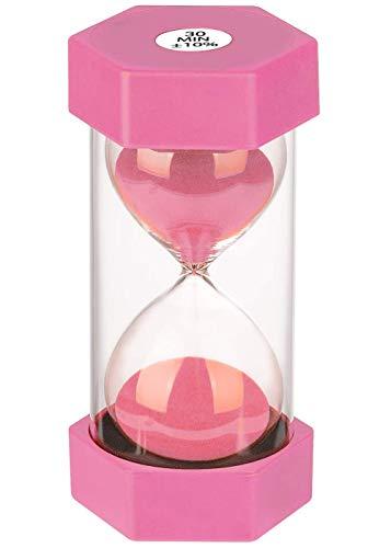 Dream HorseX Sanduhr, Kinderuhr, dekorative Sanduhr, Timer können in Klassenzimmern, Küchen, Wohnungen, Büros und auch als dekorative Timeruhr (30 Minuten, pink)