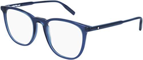 Montblanc Occhiale da Vista MB0010O 007 blu montatura plastica taglia 53 mm occhiale uomo