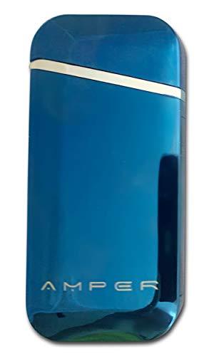 Amper Encendedor Eléctrico sin Llama, Recargable USB, Encendedor Electrónico de Plasma de Doble Arco, para Acampar, Aventura al Aire Libre GD (Azul)