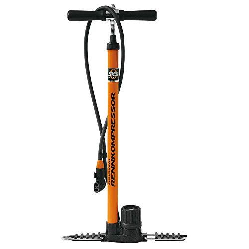 SKS, Pompa per Bicicletta, con compressore per Bici da Corsa, Arancione (Orange-Schwarz), Taglia Unica
