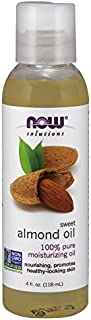 NOW Solutions, Organic Sweet Almond Oil, 100% Pure Moisturizing Oil, Promotes Healthy-Looking Skin, 4-Ounce