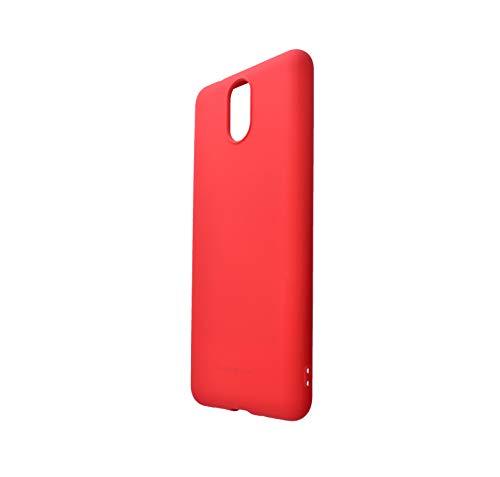 MOLAN CANO Funda de Silicon Suave para Nokia 3.1 (Rojo)