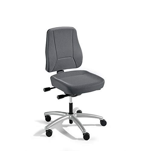 Schreibtischstuhl | Mit Muldensitz | Rückenlehnenhöhe 540 mm | Grau | Prosedia - Bandscheibendrehstuhl Bandscheibendrehstühle Bürodrehstuhl Bürodrehstühle Bürostuhl Bürostühle Drehstuhl Drehstühle Schreibtischstuhl Schreibtischstühle Universalstuhl