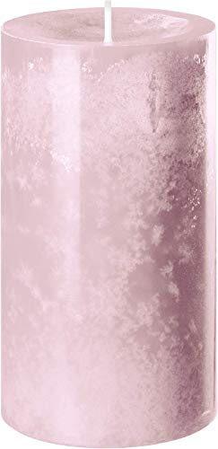 safe candle Trendkerze selbstverlöschend, 4 Stück, Höhe 13 cm/Ø 7 cm, 59 Std. Brenndauer (Antikrosa)