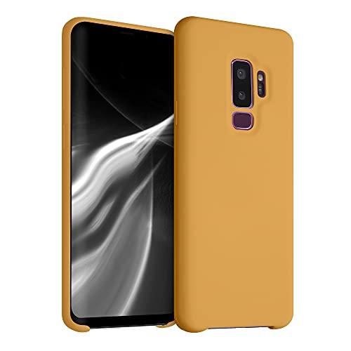 kwmobile Funda Compatible con Samsung Galaxy S9 Plus - Funda Carcasa de TPU para móvil - Cover Trasero en Naranja Pastel
