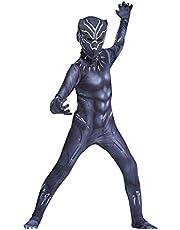 Black Panther Cosplay Kostuums Avengers Movie Fans Superhero Kinder Jumpsuit Halloween Bodysuit Fancy Dress Pak,Black Panther-Kids XXL(145~155cm)