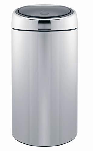 Brabantia 390821 Poubelle Touch Bin avec Seau en Plastique, 45L - Inox Brillant