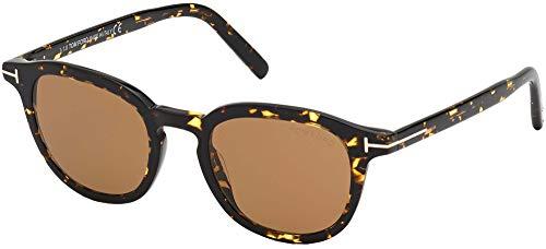 Tom Ford FT0816 - Gafas de sol para hombre Havanna oscuro. 49